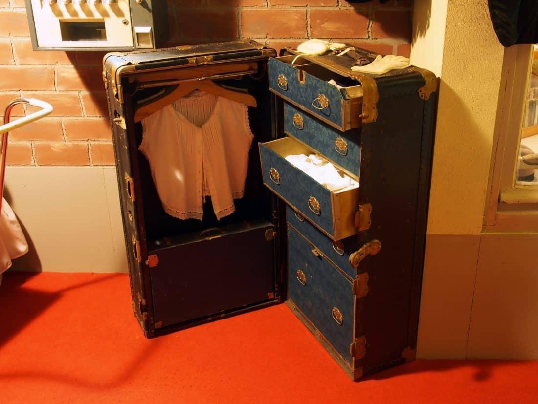Vintage Suitcase Storage
