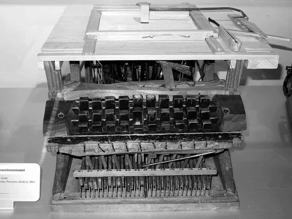 1600px 1864 Schreibmaschine Peter Mitterhofer