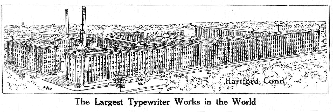 Underwood Typewriter factory 1911