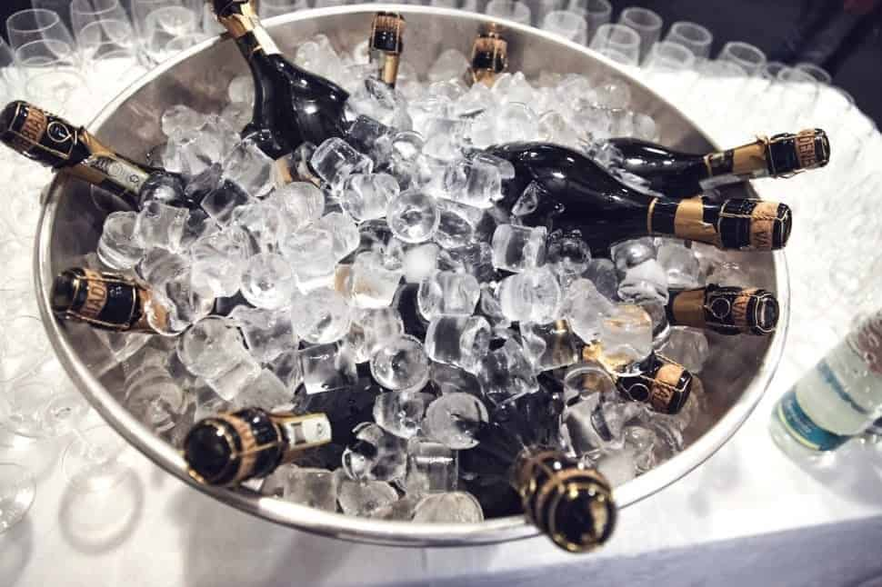 champagne bottles cooling wine wallpaper preview