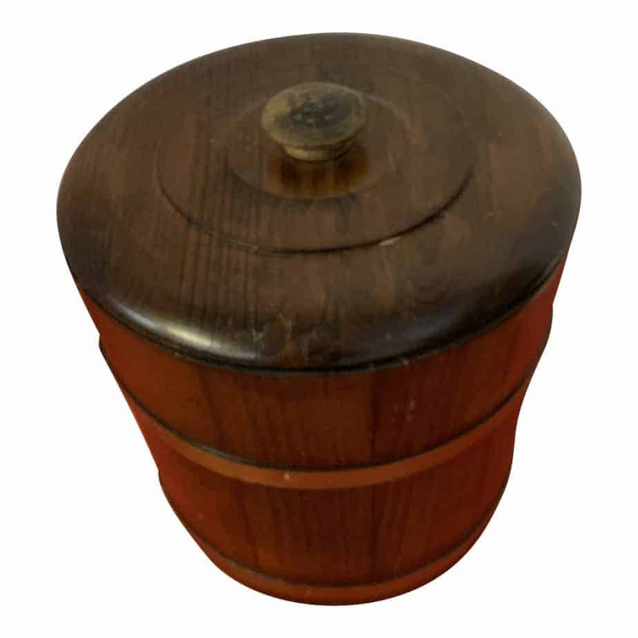 late 19th century oak ice bucket 3317