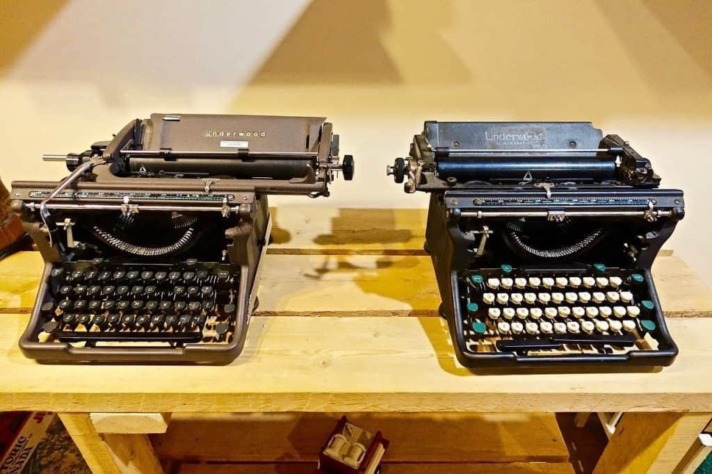 Underwood Typewriter Models