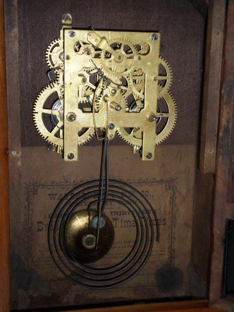 Waterbury 30 hour brass clock movement