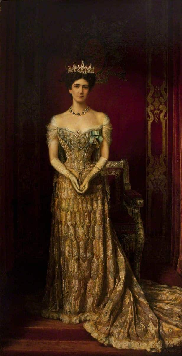 Mary Leiter Lady Curzon wearing a 1903 gown by Jean Philippe Worth William Logsdail 1909 portrait
