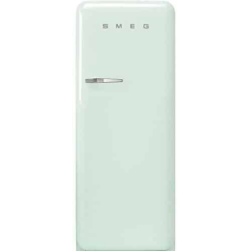 """Smeg FAB28URPG3 50's Retro Style Aesthetic 24"""" 50'S Style Refrigerator With Ice Compartment, Pastel Green, Right Hand Hinge"""