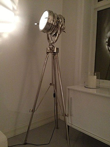 Hollywood 1950's Studio Vintage Design Industrial Tripod Floor Lamp