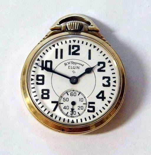Vintage Elgin Railroad Pocket Watch, 10 K Gold Filled Case, 21 Jewels, 8 Adjustments (9763729373)