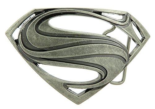 Superman Antique Silver Belt Buckle